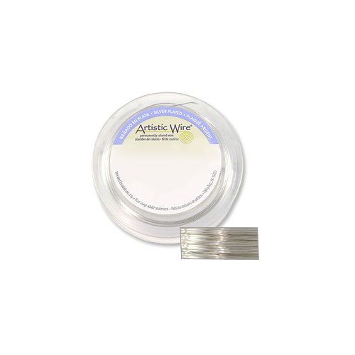 - Artistic Wire Jewelry Wire Non-Tarnish Silver Plated 22 Gauge (10 Yards)