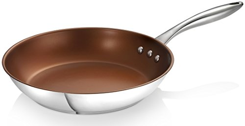 Non Stick Steel Saute Pan (Ozeri 10-Inch Stainless Steel Pan with ETERNA, a PFOA and APEO-Free Non-Stick Coating)