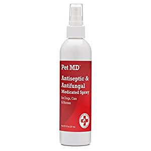 Pet MD - Antiseptic and Antifungal Medicated Spray for Dogs, Cats and Horses with Chlorhexidine, Ketoconazole, Essential Fatty Acids, Aloe and Vitamin E - 8 oz 3