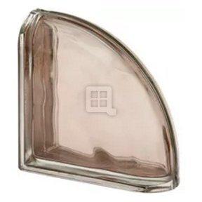 Quality Glass Block 7.5 x 7.5 x 3 Pegasus Metalized Tortora Wave Double End Block Glass Block