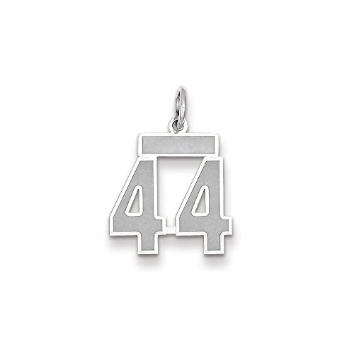 (Jewelry Best Seller 14k WG Small Satin Number 44 Charm)
