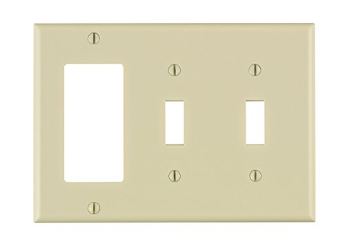 Leviton 80421 T Combination Wallplate Thermoset