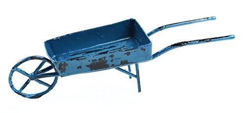 Touch of Nature 1-Piece Miniature Garden Wheelbarrow, 4-Inch, Blue
