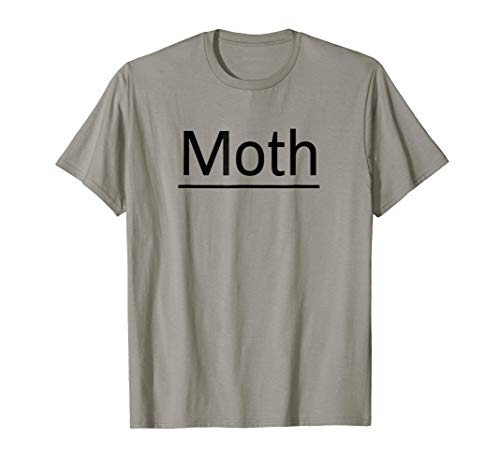 Moth T-Shirt Funny Sarcastic Moth Lamp Halloween Costumes