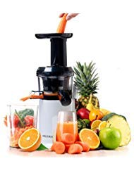 Secura GS-132 Slow Masticating Big Mouth' Cold Press, Low Speed Juicer for High Nutrient Fruit and Veggies Juice, White