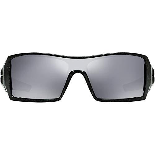 fa56c0c81 Oakley Oil Rig Men's Lifestyle Sports Sunglasses/Eyewear - Polished Black/Silver  Ghost Text/Black Iridium/One Size Fits All