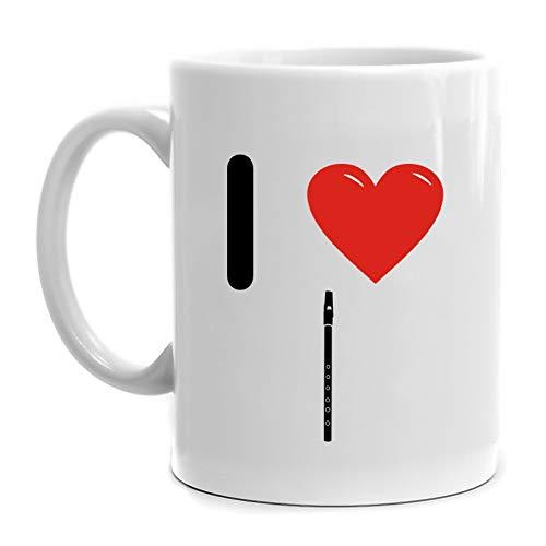 (Eddany I love Tin Whistle Silhouette Mug 11 ounces)