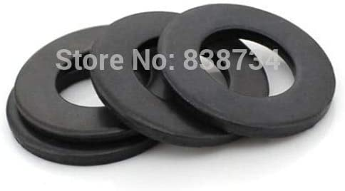 Ochoos 100pcs m8171.5 Steel with Oxide Black Shim Flat Washer