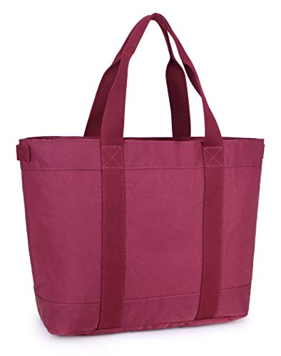 Crest Design Water Repellent Nylon Large Lightweight Work School Travel Tote Bag Handbag fits up to 17