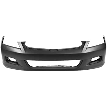 Front Bumper Cover Assembly Primed Smooth w//Fog Hole CarPartsDepot 352-17863-10-PM CH1000444 5JL35TZZAF