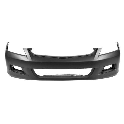 CarPartsDepot, 4dr Front Bumper Primed Plastic Cover USA Built w/ Fog Lamp Bezel Hole, 352-20711-10-PM HO1000235 04711SDLA90ZZ