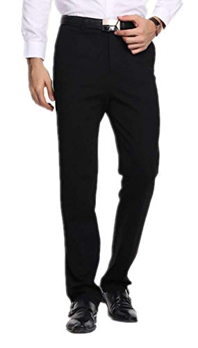 Slim Bleu Noir Pantalon Long Straight W42 Regular Dunkelblau Men Leg Haidean Foncé Casua Moderne Fit Business W30 PEwqgq7
