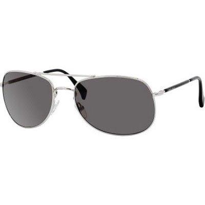Giorgio Armani 840/S Men's Aviator Full Rim Lifestyle Sunglasses - Palladium/Gray/Size 61/19-135