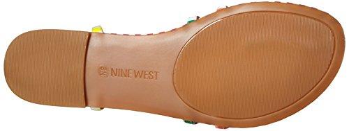 sintético West la Nine sandalia Navy White Multi de shmoopy vestido adOxxEX