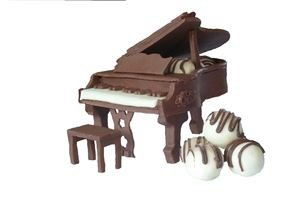 Chocolate Modelling Paste 900g With Free Baby Grand Piano Craft Template Plain