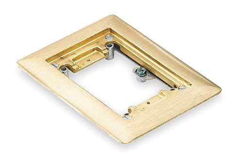 Steel City Floor Box Cover, Brass, Shape: Rectangular, 6-1/2 Length, 4-5/8 Width - P 64 CP