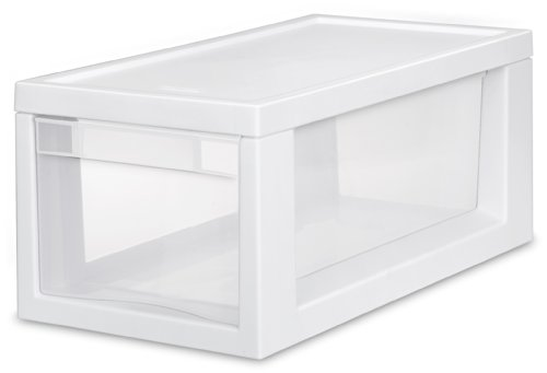 Sterilite 23508006 Narrow Modular Drawer, White Frame wit...