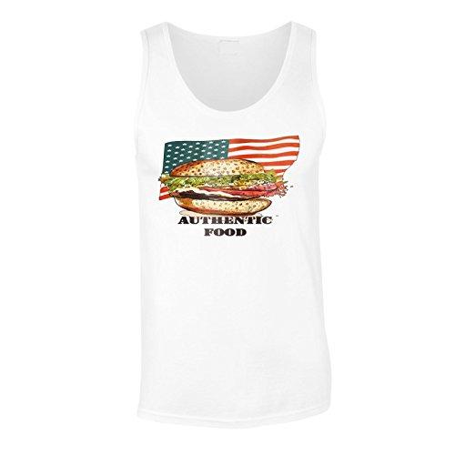 Neue Amerikanische Usa Burger Flagge Herren Tank top m560mt