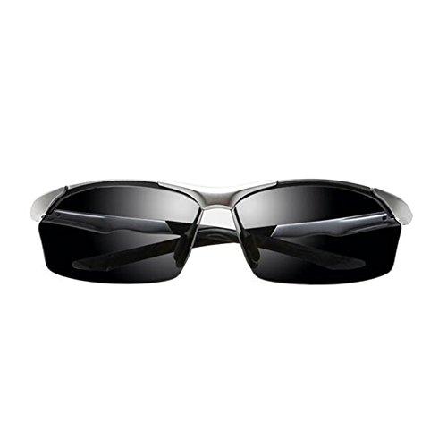 La UVA Gafas De 100 Gafas Gris Plata UV Conducción Polarizada Sol Luz WYYY Aire Protección Anti De Protección Solar Color Libre Gafas Hombres Marco Clásico Medio Wcq1UwIgS