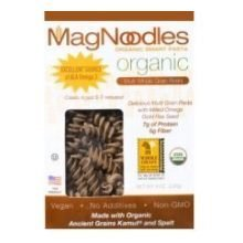 Mag Noodles Organic Multi Grain Rotini with Flaxseed Noodles, 8 Ounce -- 6 per case.