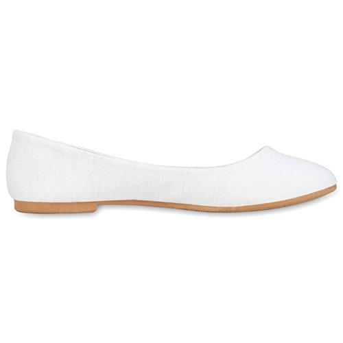 napoli-fashion - Ballerine Donna, bianco (bianco), 37