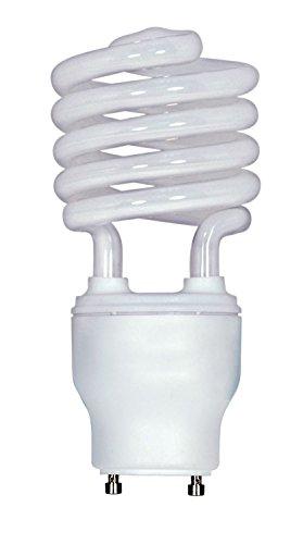 (2-Pack) Satco S8210 23-Watt 4100K GU24 Base Mini Spiral Compact Fluorescent Lamp, 100W Equal