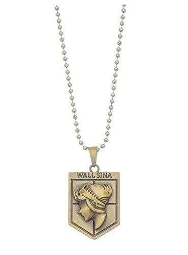 Attack on Titan Necklace - Attack on Titan Wings of Liberty Necklace - Attack on Titan Wings of Freedom Necklace Freedom - Attack on Titan Wall Necklace - Attack on Titan Wall Sina Bronze Necklace ()