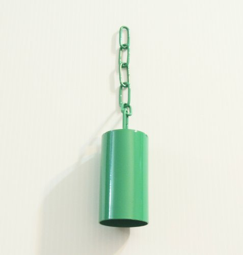 Pipe/safety Bell W/matching Chain Bird Toy Large Green by Jungle Beaks