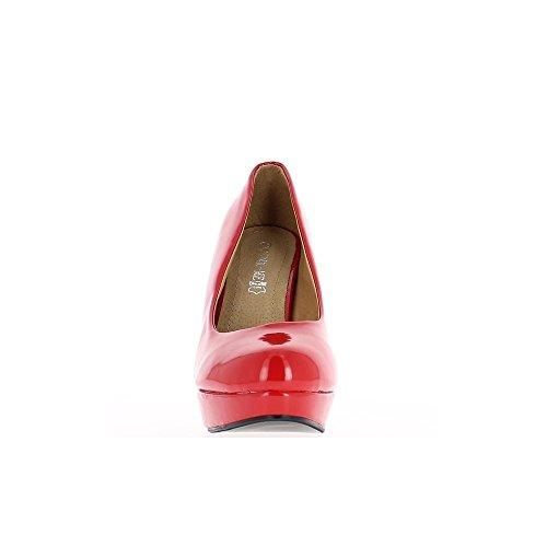 Piattaforma Femmina Grande Tacco Vita Nero E 12cm Scarpe qxqTCrZvwB