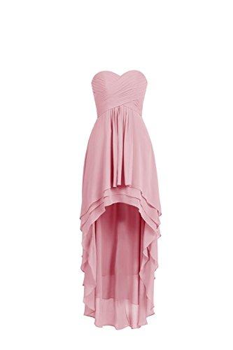 YiYaDawn - Vestido - trapecio - para mujer Blush Pink