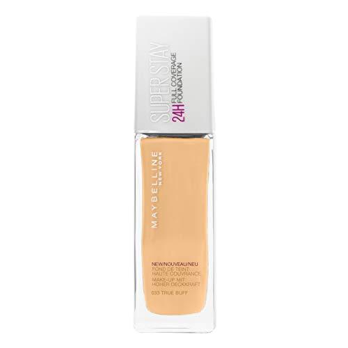 Maybelline New York Make Up, Super Stay 24h Make-Up, Flüssige, langanhaltende Foundation, Nr. 33 True Buff, 30 ml