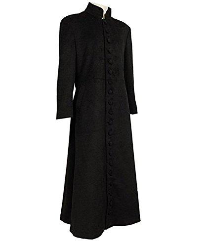 Adult Neo Costumes (TISEA Halloween Men's Cosplay Costume Black Long Trench Wool Coat (XXXL))