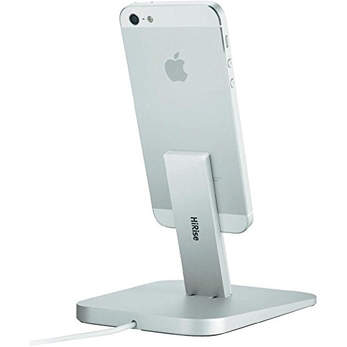 Price comparison product image Twelve South HiRise for iPhone/iPad, Silver | Adjustable charging stand, requires Apple Lightning cable (not included)