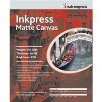 Inkpress Artist's Waterproof Stretchable Canvas, Bright White Matte Inkjet Cloth, 20mil., 350gsm., 13' x 19', 10 Sheets.