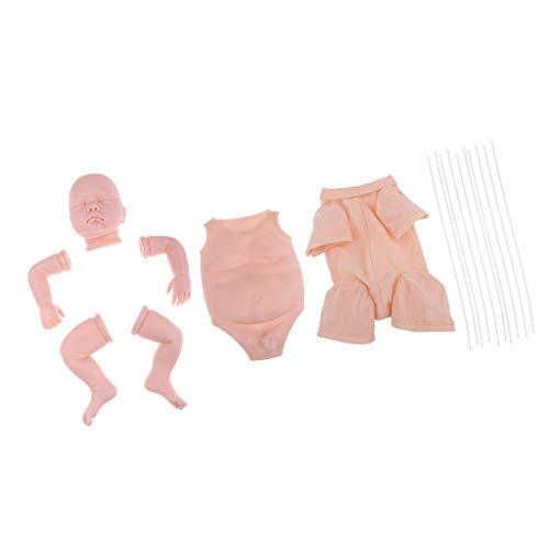 (Prettyia Lifelike 22inch Reborn Kits Baby Doll with Full Silicone Limb, Boy Belly Plate, Cloth Body - Great DIY Handwork)
