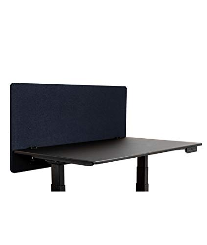 ReFocus Acoustic Rear Mount Desk Dividers   Desk Privacy Panel - Reduce Noise and Visual Distractions with This Easy to Install Desk Screen (48