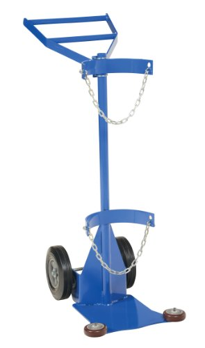 Vestil CYL-DLX-1-HR Deluxe Cylinder Dolly with Hard Rubber Wheel, Steel, 26-15/16