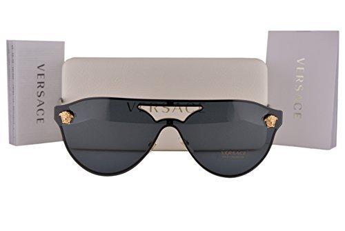 2161 Lens - Versace VE2161 Sunglasses Gold Black w/Gray Lens 100287 VE 2161