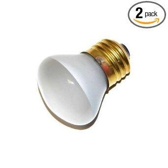 Frost Flood Incandescent Light Bulb (25 Watt - R14 Short Neck - Reflector Flood - 120 Volt - Medium Base - Incandescent Light Bulb - Bulbrite200025 - 2 Pack)
