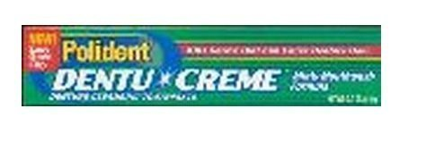 Polident Dentu Creme Denture Cleansing Toothpaste - 3.9 Oz (pack of 3)