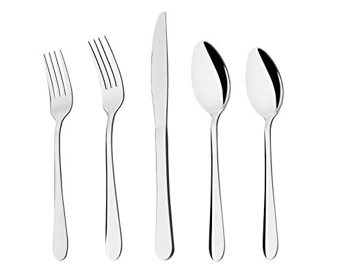 S'DENTE 20-Piece Flatware Set Set for 4 Silverware Set Stainless Steel Flatware Cutlery Set for 4,Include Forks/Knives…