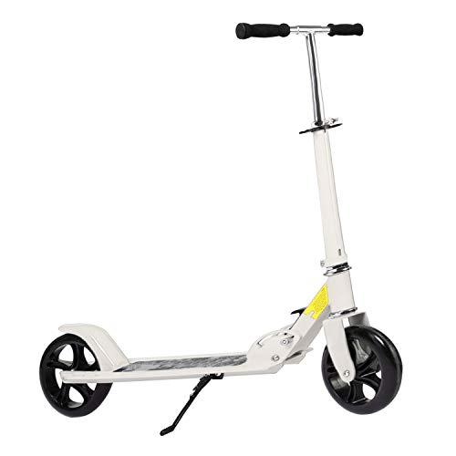 Kids/Adult Scooter with 3 Seconds Easy-Folding System, 220lb Folding Adjustable Scooter with/Without Disc Brake and 200mm Large Wheels (Sim-B.)