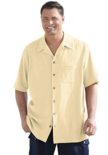 - KingSize Gauze Cotton Camp Shirt, Natural Tall-L