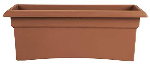 Bloem 57026C Fiskars Veranda Deck Box Planter, Clay, 26