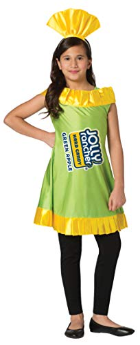 Jolly Rancher Green Apple Candy Costume Dress Hershey's Girls Child Size 7-10