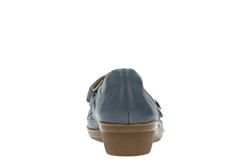 CLARKS Clarks Womens Shoe Everlay Bai Blue Leather 4.0