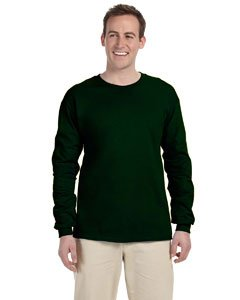 Gildan Adult 6.1 oz. Ultra Cotton Long-Sleeve T-Shirt (XL / FOREST ()