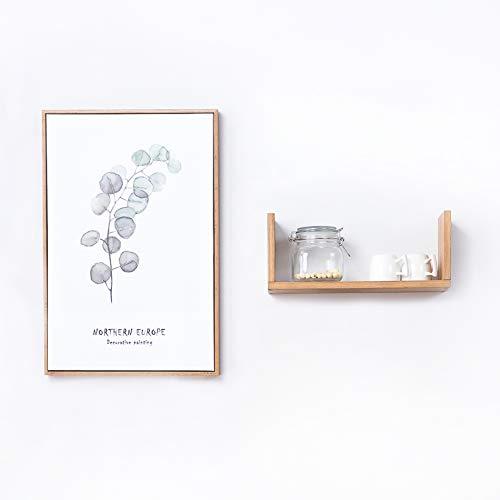 Wood Wall Shelf, 1PCS Oak Floating U Shaped Hanging Bookshelves Organizer Small Wall Mounted Storage Display Ledges Picture Dvd Plant Media Decor Frames for Bedroom Living Room Office (OAK, Small)