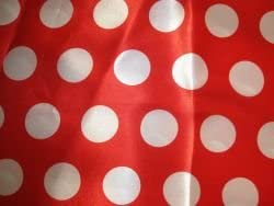 Satin Stoff Mit Punkten Gepunktet Rot Weiss Bedruckt Meterware
