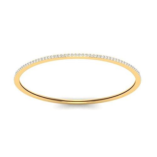 14K Or jaune, 2.12CT TW Round-cut-diamond (Ij| SI) Bangle-bracelets
